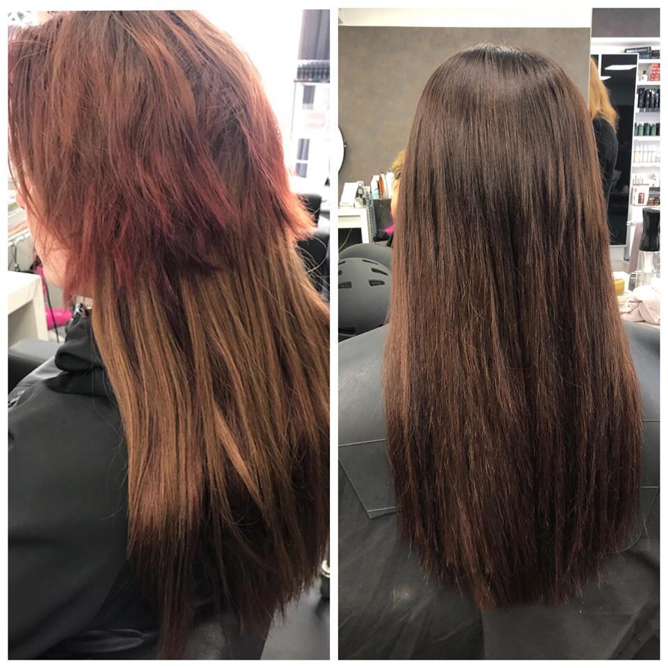 hårförlängning på väldigt kort hår